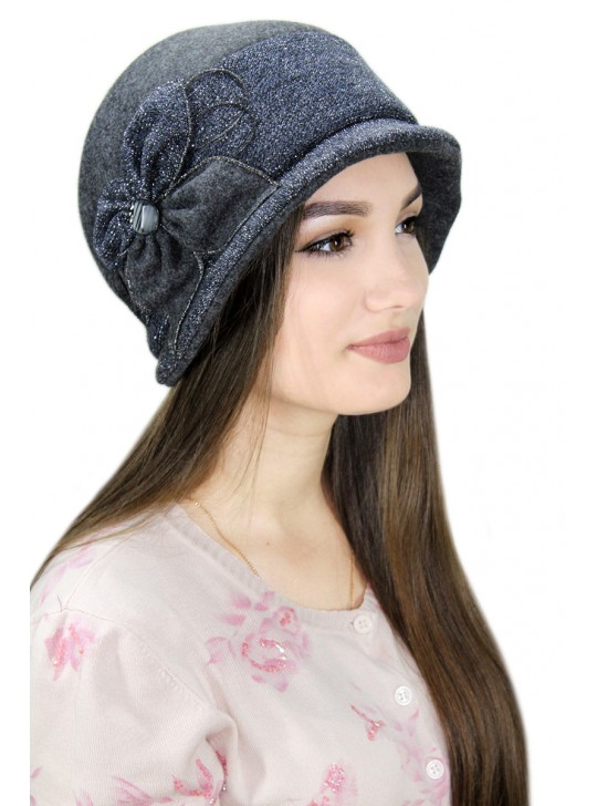 """Шляпа """"Мэрри"""", женская, демисезонная, драп"""